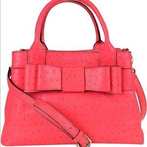Handbags - Kate spades red garden handbag- ostrich print